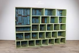 rustic painted wooden pigeon hole storage 27028 pic1 size1 jpg