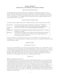 Short Business Report Sample Formal Business Report Template Format Example Fresh Simple