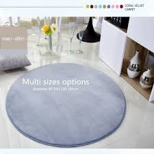 Micozy Round Area Rug Coral Fleece Floor Mat Antiskid Living Room Bedroom Home