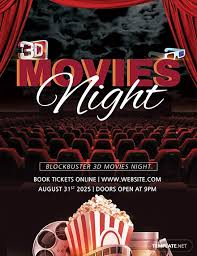 Free 3d Movies Night Flyer Template Download 675 Flyers In Psd
