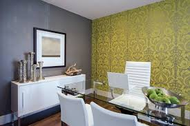 wallpaper for home office. Den Wallpaper Home Office Eclectic With Gray Wall Contemporary Nut And Candy Dishes For