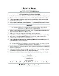 Sample Resume Customer Service Representative Customer Service