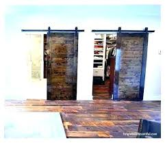 sliding closet barn doors reclaimed wood door kit hardware track system set double