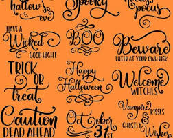 The graphic resource above is about halloween, pumpkin, night apart from the transparent png clipart image file, you can also download. Halloween Words Svg Etsy