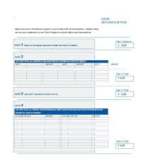Reconciliation Template 50 Bank Reconciliation Examples Templates 100 Free