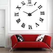 2016 modern diy interior roman numeral scales wall clock 3d mirror design ideas of metal mirror