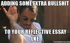 adding some extra bullshit to your reflective essay lke salt bae adding some extra bullshit to your reflective essay lke salt bae