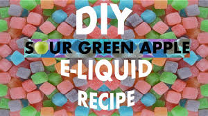 diy e liquid recipe 10ml sour green apple