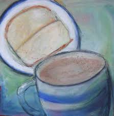 hot chocolate painting. Contemporary Painting Saatchi Art Artist Barbara Craig Painting U201cHot Chocolate And Apple  Sandwichesu201d  In Hot Painting