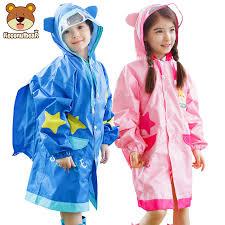 Students <b>Raincoat</b> With School Bags Cool <b>Children Raincoat</b> ...