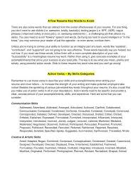 14 Inspirational Resume Action Word List Pictures
