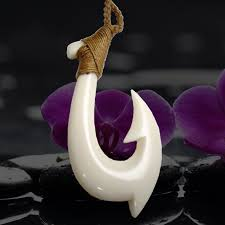 pacific fish hook necklace