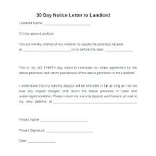 Notice To Vacate Letter Eviction Notice Form Appearance 5 Day Format Intent To Vacate Of
