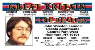 Id Lennon - John Nostalgia Card Beatles American