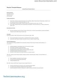 Physical Therapy Resume Sample Best Of High School Student Resume
