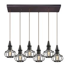 elk 14191 6rc yardley retro oil rubbed bronze multi pendant lighting fixture loading zoom