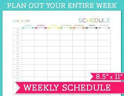 6 Week Work Schedule Template 2 Week Work Schedule Template Creating An Agenda Sample Weekly Free