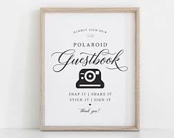 photo guest sign in book polaroid guest book etsy