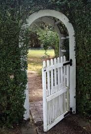 Small Picture Delighful Garden Arch With Gate Throughout Design Ideas