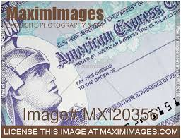 stock photo american express travellers cheque maximimages