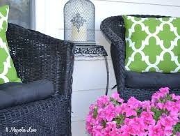 black patio chair cushions charcoal black all weather plastic outdoor lounge chair with birds eye cushion