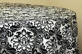 round white table linens damask flocking taffeta round tablecloth black white white table linens