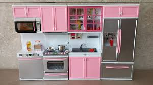 Small Picture Unboxing new barbie kitchen set Deluxe Modern toy Kitchen