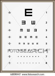 Snellen Eye Chart For Phone Vector Snellen Eye Test Chart Clip Art K8696447 Fotosearch
