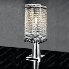 crystal nightstand lamps awesome chandelier table lamp the with regard to uk