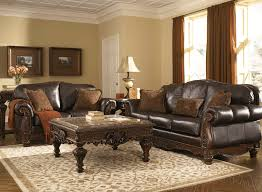brown leather sofa sets. Exellent Leather North Shore Dark Brown Genuine Leather Sofa Set  Lexington Overstock  Warehouse On Sets