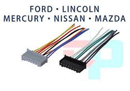 ford plugs into factory radio car stereo cd player wiring harness factory radio oem reverse male wire wiring harness 6