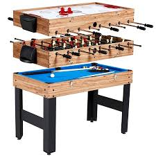 MD Sports 48 Inch 3-In-1 Combo Game Table, 3 Games with Billiards, Hockey and Foosball, accessories included - Walmart.com Billiards