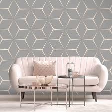 belgravia decor geometric grey rose