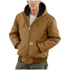 Carhartt Quilted Flannel Lined Duck Active Jacket - 108319 ... & Carhartt Quilted Flannel Lined Duck Active Jacket, Brown Adamdwight.com