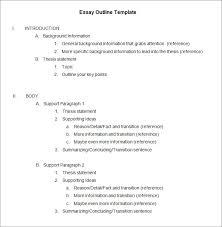 How To Write Essay Outline Essay Outline Template Writing Outline Template Wcc Usa Org