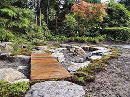 Small Picture Japanese courtyard garden bridge over water Landscaping