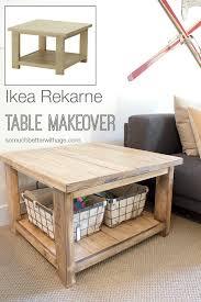 ikea rekarne table makeover somuchbetterwithage com