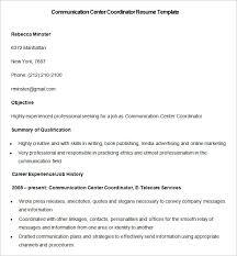 sample communication center coordinator resume template online marketing resume sample