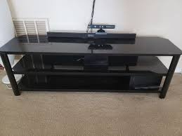 tv stand black glass top