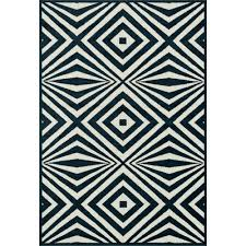 catalina optical illusion navy ivory outdoor rug