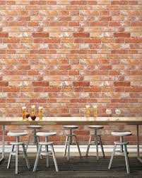 prepasted brick wallpaper pattern contact paper wall stickers white