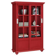 Altra Furniture Aaron Lane Barrister Bookcase with Sliding Glass Doors