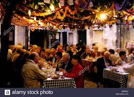 busy restaurant scene. Interesting Scene The Busy And Colourful Lautasco Restaurant In Lisbonu0027s Alfama District   Stock Image For Busy Restaurant Scene C