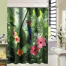 bathroom shower curtain hooks tropical flower forest parrot bathroom shower curtain hooks included bathrooms designs images bathroom shower curtain hooks
