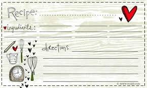 Blank Recipe Cards Istocnik Info