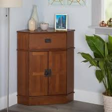 wood office cabinets. Simple Living Mission Corner Cabinet - 34\ Wood Office Cabinets