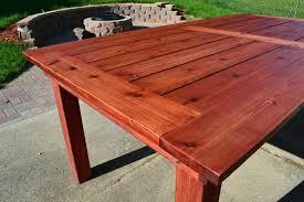 beautiful cedar patio table diy outdoor top wood
