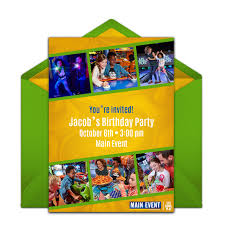 Birthday Party Evites Free Main Event Birthday Party Online Invitation