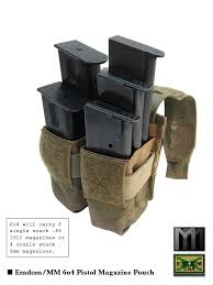 Single Stack Magazine Holder EmdomMM 100o100 MultiPistol Magazine Pouch Pouches Tactical gear 40