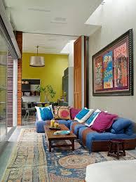 fun living room furniture. Stylish Sofa Brings Color To The Eclectic Living Room [Design: Katie Leede \u0026 Company Fun Furniture A